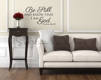 Psalm 46:10 Be Still And Know That I Am God Vinyl Decal
