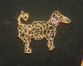 Wire Weaving Handmade Wire Dog Brooch Wire Weaving Wire Wrapped