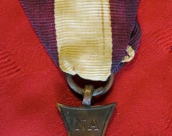 Original 1940's World War II Polish Cross of Valor Medal & Ribbon - Free Shipping