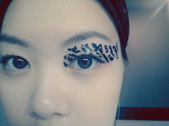 1 pair eye temporary tattoo fake transfer stickers by cclstore for Eye temporary tattoo makeup