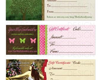 Custom Certificate Design, Voucher Design, Coupon Design, Gift Card Design, Graphic Designer, Promotional, Marketing