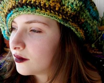 Large Stevie Nicks Style Crochet Beret Renaissance Hat Made to Order