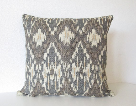 Zenanan Java ikat brown cream blue decorative pillow cover