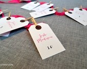 Custom Printed Modern Escort Cards / Place Cards