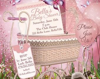 Baby Shower Invitation, Baby Girl Shower, Shower Invitations, Party Invitations