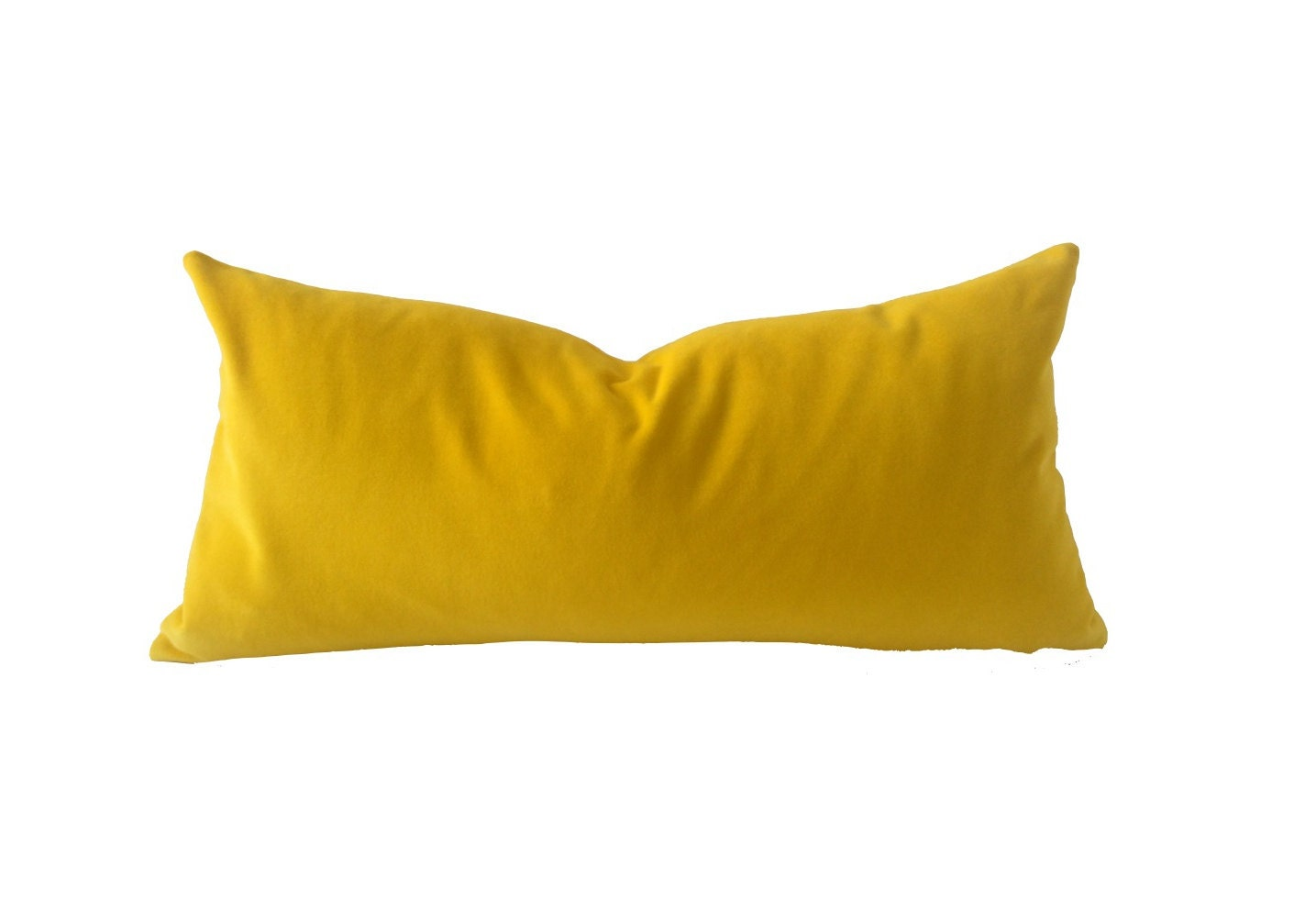 Throw Pillow Yellow : Canary Yellow Decorative Bolster Throw Pillow Medium Weight