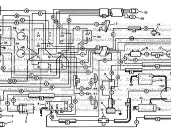 Electrical Schematic Diagram Tech Plans Blueprint Design Geek Minimalist - Digital Image - Vintage Art Illustration