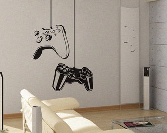 Game On - Removable Vinyl Wall Decal Art Decor Sticker Mural Modern Gaming xbox ps3 A123