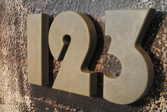 concrete address numbers modern house numbers by fmcdesign