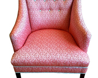 Pretty Vintage Reupholstered Parlor Chair