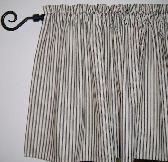Black White Ticking Stripe Curtains Curtain MenzilperdeNet