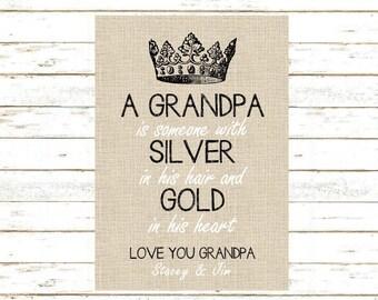 Grandpa Gift. Print and Pop into any frame. DIY Instant Download Print. Grandpa Birthday Gift. Grandpa Christmas Gift. Stocking Stuffer