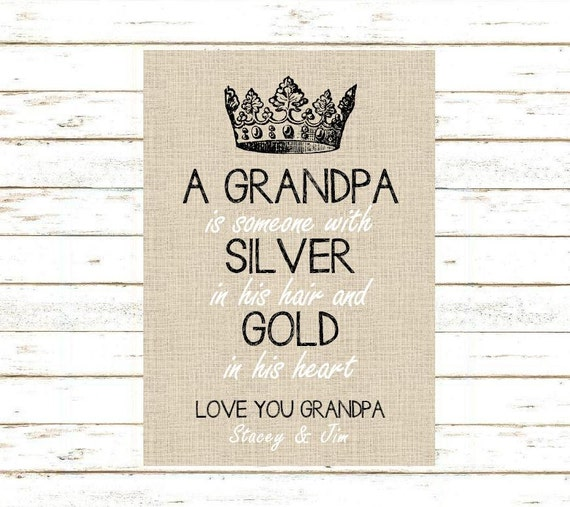 Grandpa Gift. Print and Pop into any frame. DIY Instant