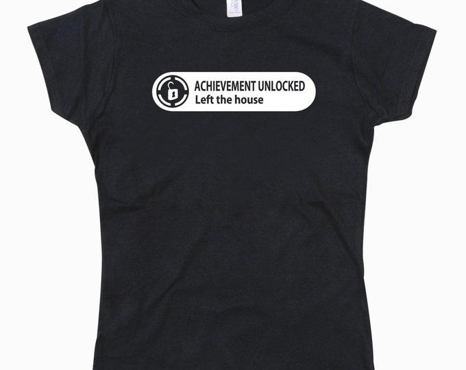 Ladies Xbox Achievement Left the House Tshirt