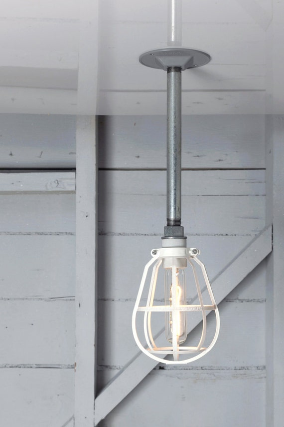 industrial lighting modern cage light drop pendant pipe lamp