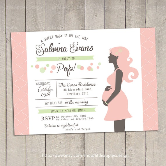 ready to pop baby shower invitation baby shower ready to pop ready