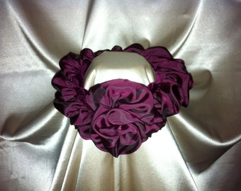 Tuck-a-Rose Scarf - Maroon