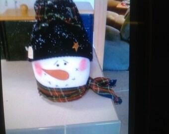 SNOW BUDDY--  Christmas Snowman, Holiday Snowmen, Snowman Doll, Snowman decoration, Winter snowman