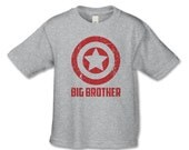 Superhero Matching Sibling Shirt - Big Brother Shirt - Personalized Tshirt - Big Brother, Sister, Little Brother, Sister Announcement Shirts