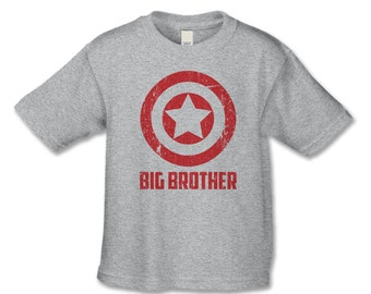 Superhero Matching Sibling Shirt - Big Brother Shirt - Personalized Tshirt - Create Your Own Matching Shirt Set for Dads, Son, Baby, Sisters