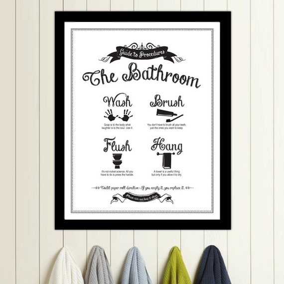 Guide to procedures the bathroom print bathroom rules for Bathroom cleaning procedure
