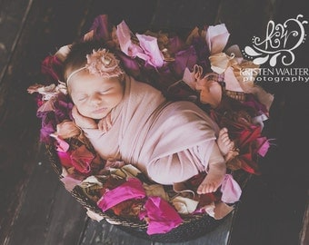 Pink Headband, Pink Baby Headband, Newborn Headband, Baby Headband, Pink Headbands, Pink Flower Headbands, Photography Props