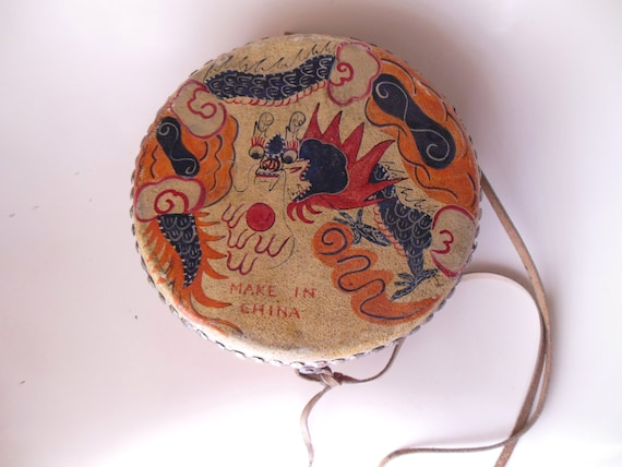 Antique Chinese Nail Head Drum Make In China By Vintageandgems