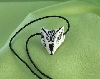 Magical White Fox Pendant