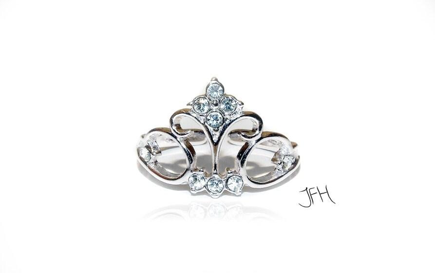 Silver Tiara Princess Crown Ring Silver Tiara by Jewellery4Her