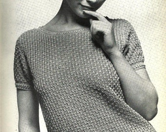 Crochet pattern, Women's Top.1960's, vintage pattern, pdf, instant download