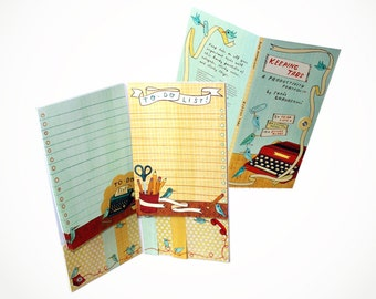 PRODUCTIVITY PORTFOLIO: cute notepads, page flags, sticky notes, office supplies for women, gift for her gifts for girl boss, stationery set