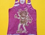 Kali racerback tank top Batik women purple size XS, S, M, L