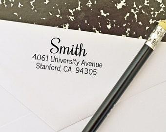 Return address ink stamp, stamp for address - rubber, self-inking