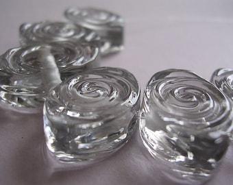 Beads Glass Grey Lampwork Handmade Pale Grey Tint Spiral Zulus Ericabeads (6)