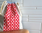 RED HIPPO Drawstring Bag