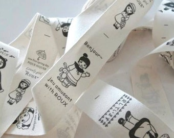 Lovely Girl ROUX Print Fabric Ribbon Trim