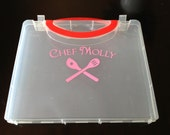"Personalized Name Chef Decal with Spoon and Spatula - Cooking Decal - Chef Sticker - 3.75"" x 6.5"""