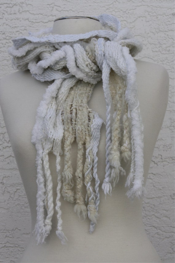 Iceberg Everyday Scarf in whites and a fine touch of blue