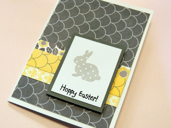 Grey and Yellow Easter Card