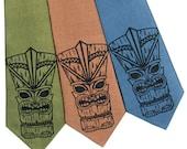 Tiki God Silk Tie