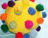 Baby Toy Crochet Pattern, Alien Egg Grabby Ball