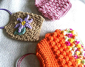 Crochet Bangle Bags, Wrist Bags, Pattern Only