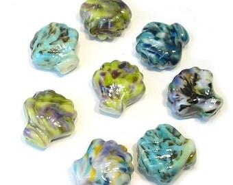 Brights Handmade Glass Lampwork Shell Beads