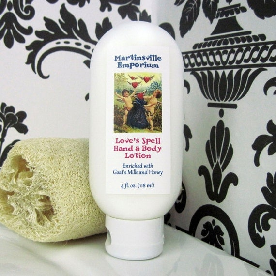 Love's Spell Hand and Body Lotion - Enriched with Shea Butter, Goat's Milk and Honey - Duplicate of the famous Victoria's Secret fragrance