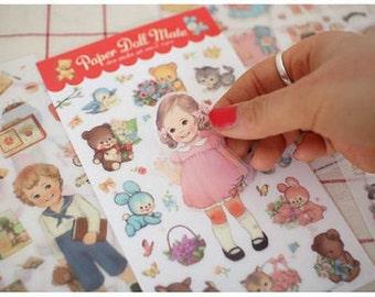 Paper Doll Mate Sticker Set