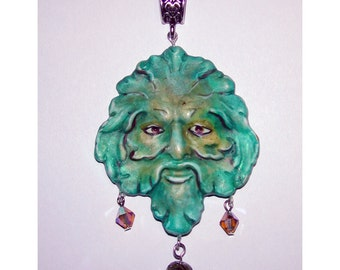 Celtic Greenman Hand Crafted Pendant