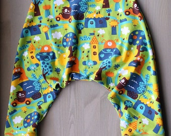PDF Pattern - Perlipants - Harem trousers (1 month old to 5 years old) - Instant download