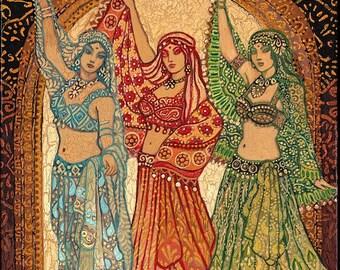 Sisterhood of the Silk Road Bellydance Goddess Art 8x10 Print