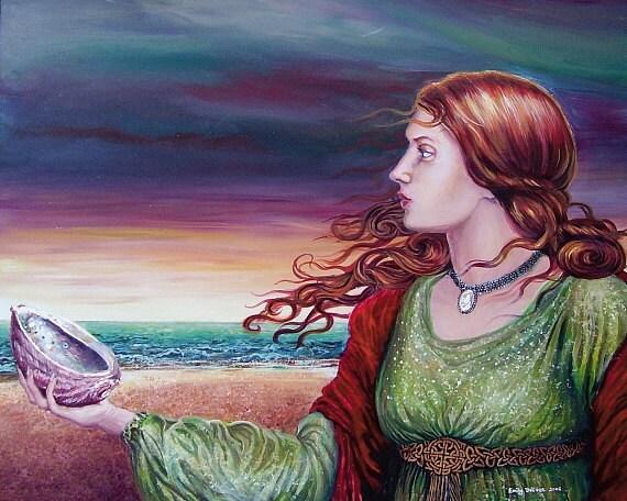 Mother of Pearl Ocean Goddess  - 8x10 Print