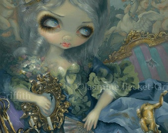 Delusions of Grandeur rococo french fairy art print by Jasmine Becket-Griffith BIG 12.75x15